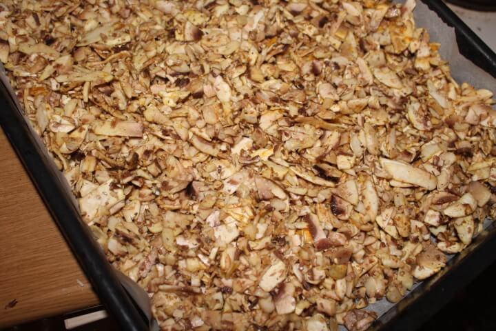 Γύρος μανιταριών - μανιτάρια στον φούρνο