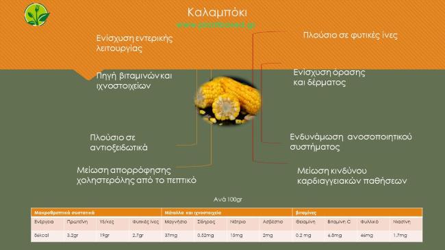 Καλαμπόκι - Infographic